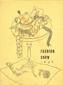 Fashion Show Program: Costume Design, 1947