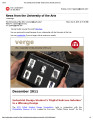 Verge : the e-newsletter of the University of the Arts, December 2011